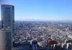 新年会 富士山冠雪