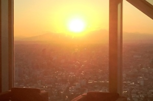 新年会 富士山夕陽